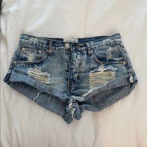 One Teaspoon Bandit Shorts, size 24, Hendrix Wash.
